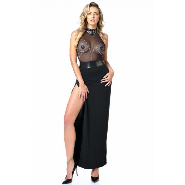 Rückenfreies Kleid ISLA - Schwarz