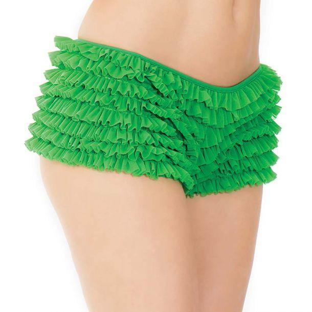Rüschenhöschen Panty mit Schleife - Grün
