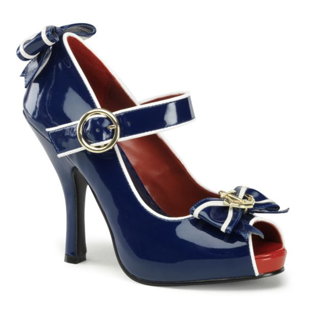 Sailor Peeptoes ANCHOR-22 - Blau