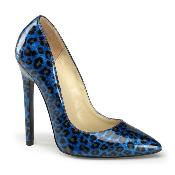 Leo High Heels SEXY-20 - Leopard Blau