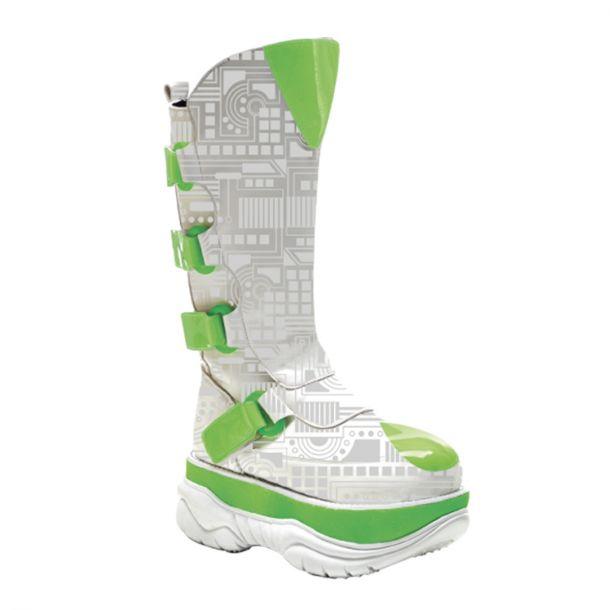 Cyber Boots NEPTUNE-309UV - Weiß/Grün
