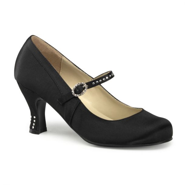 Retro Pumps FLAPPER-20 - Schwarz*