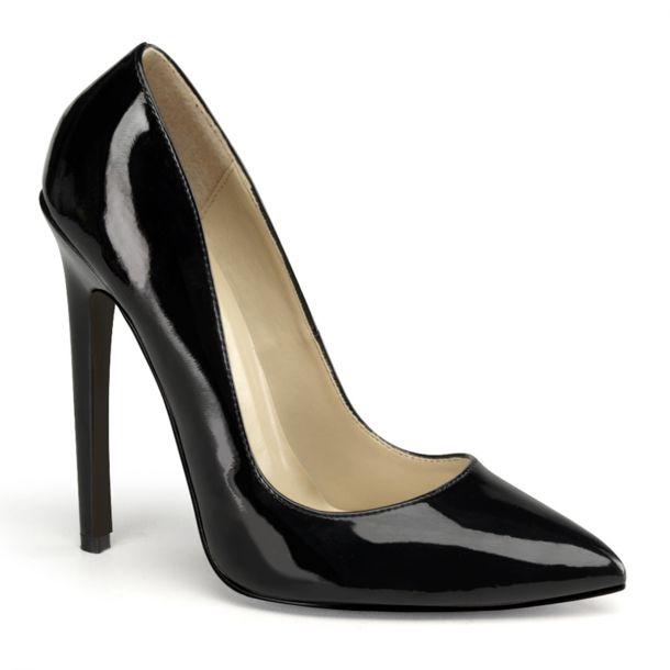 Stiletto High Heels SEXY-20 : Lack Schwarz*