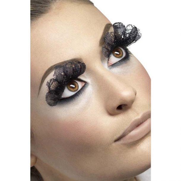 Lange Augenwimpern - Schwarze Spitze*