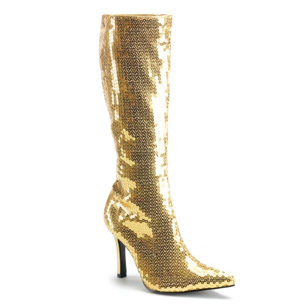 Stiefel LUST-2001 - Pailletten Gold