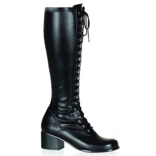Retro Stiefel RETRO-302 - PU Schwarz