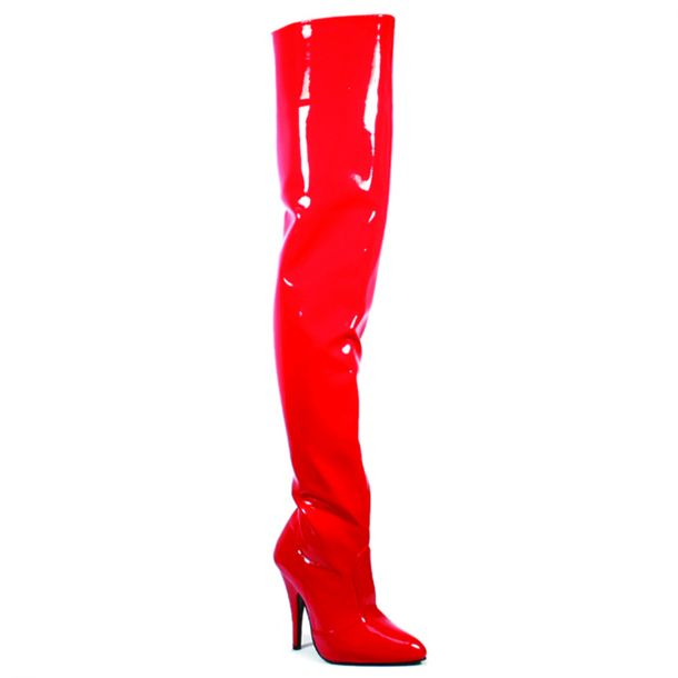 Overknee Stiefel SEDUCE-3010 - Lack Rot