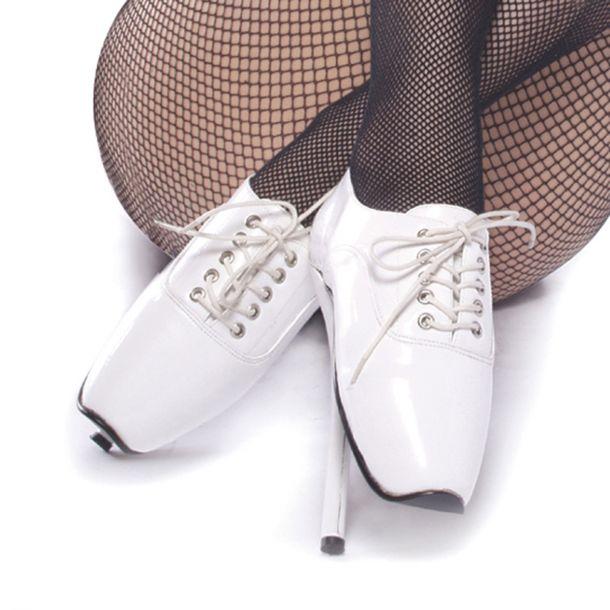 Fetish Heels BALLET-18 - Lack Weiß