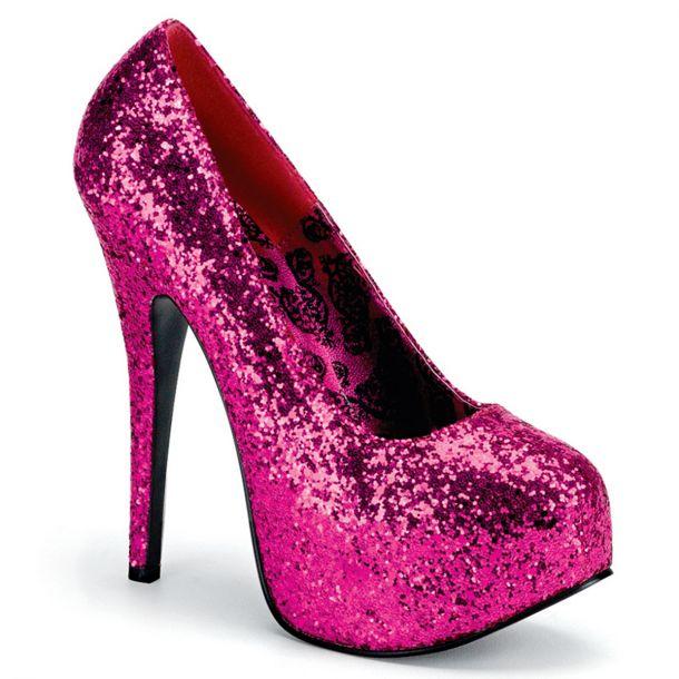 Plateau Pumps TEEZE-06G - Glitter Hot Pink
