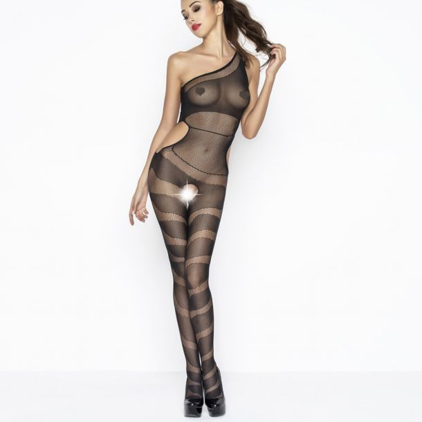 One Shoulder Bodystocking BS041 - Schwarz*