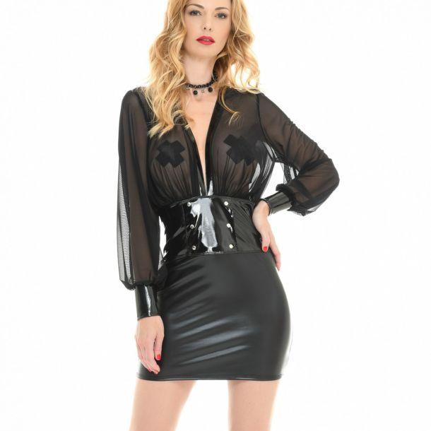 Wetlook Mini Kleid ROBYN*