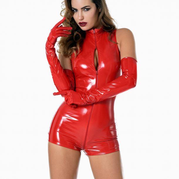 Lack Bodysuit - Rot*