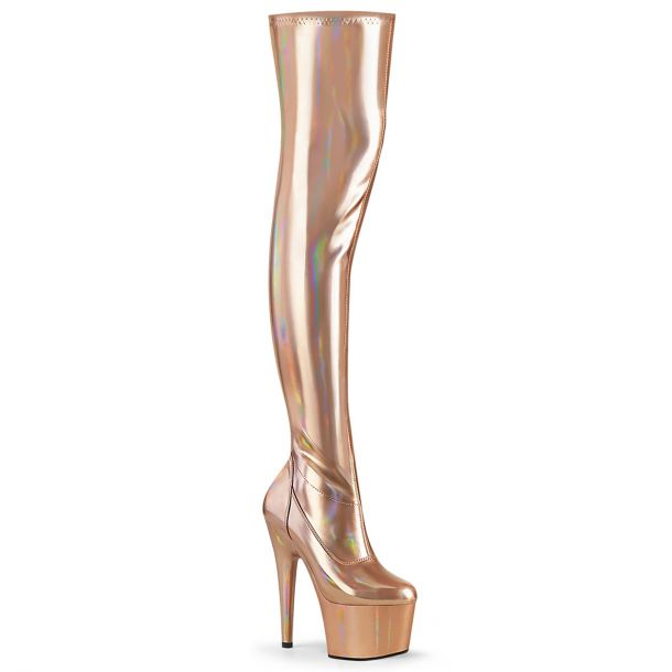 Plateau Overknee Stiefel ADORE-3000HWR - Rose Gold