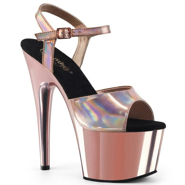 Plateau High Heels ADORE-709HGCH - Rose Gold Chrom