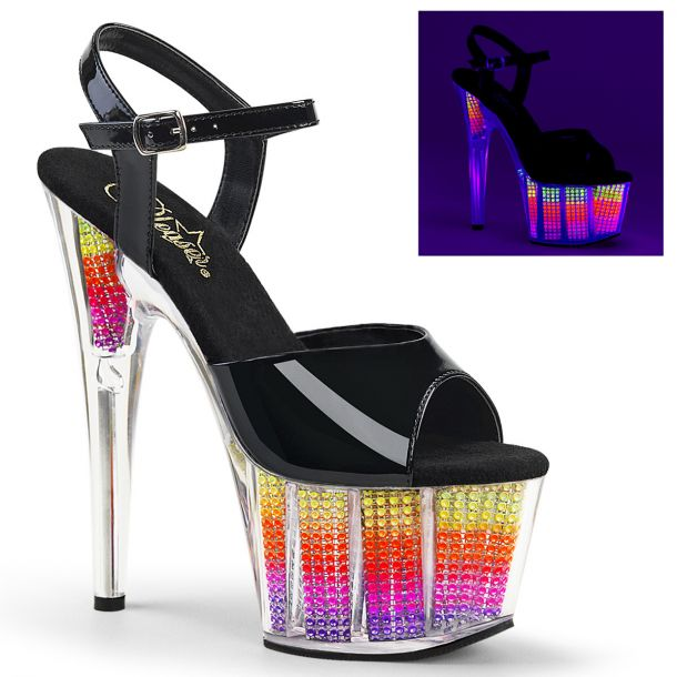 Plateau High Heels ADORE-709SRS - Neon Multi