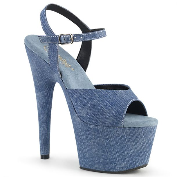 Plateau High Heels ADORE-709WR - Jeans*