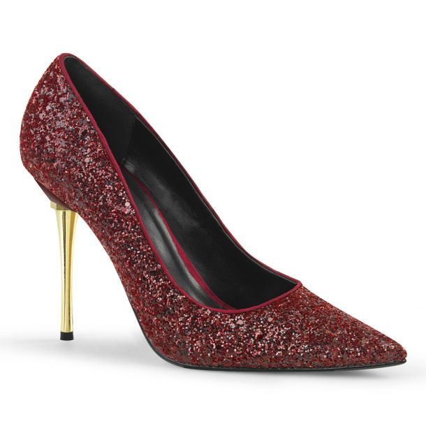 Stiletto Pumps APPEAL-20G - Glitter Burgundrot*