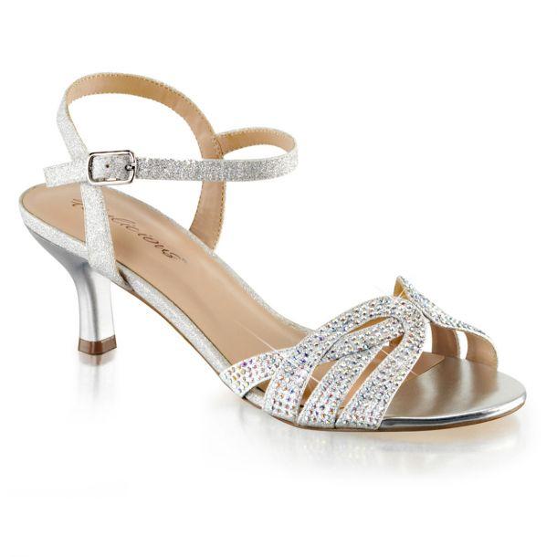 Kitten Heel Sandalette AUDREY-03 - Silber