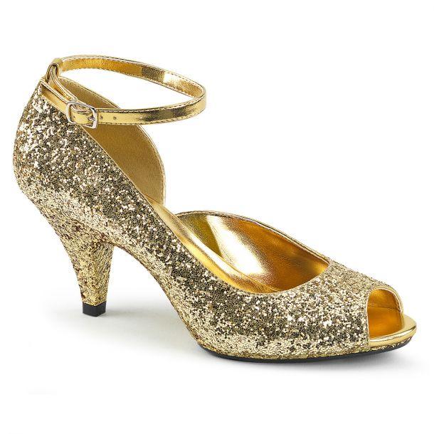 Glitter Peeptoes BELLE-381G - Gold
