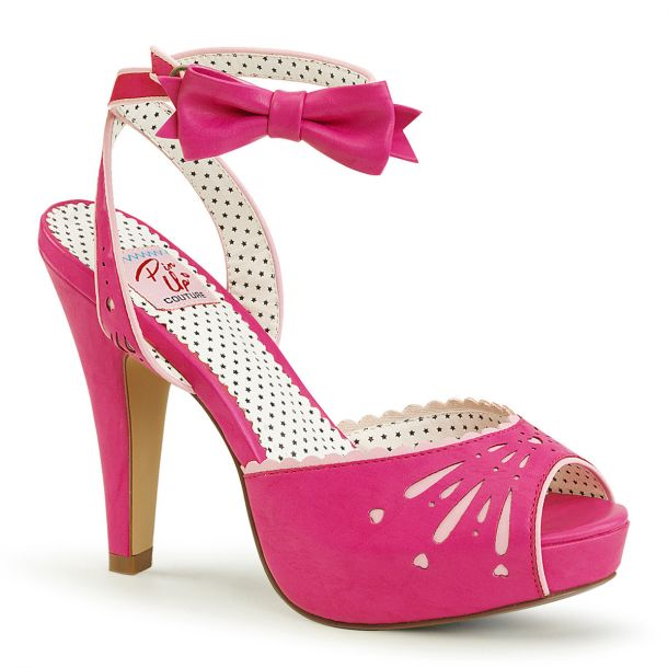 Peeptoe Sandalette BETTIE-01 - Hot Pink*