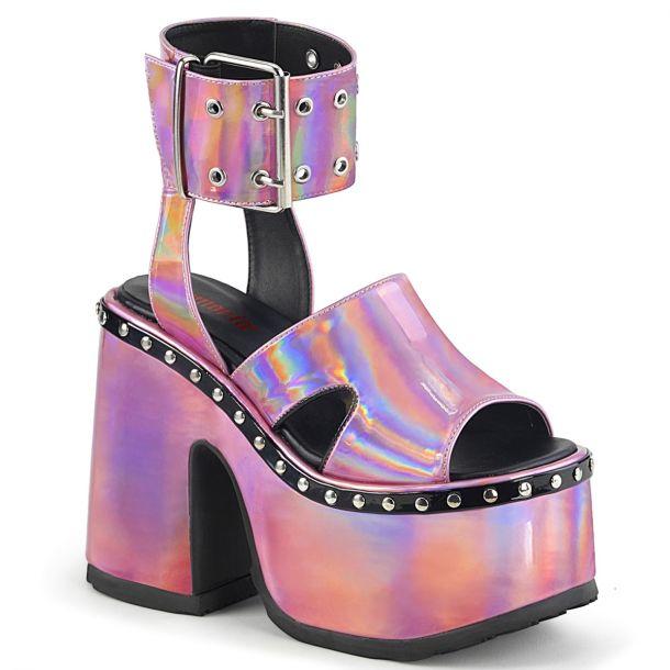 Gothic Sandalette CAMEL-102 - Pink Hollogramm