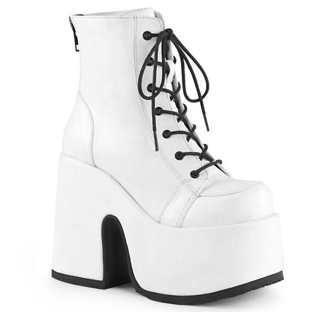 Gothic Stiefelette (Vegan) CAMEL-203 - Weiß*
