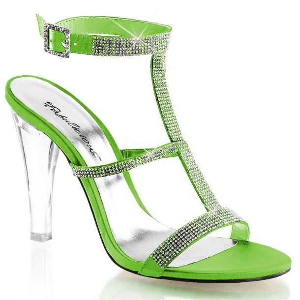 Sandalette CLEARLY-418 - Apfelgrün