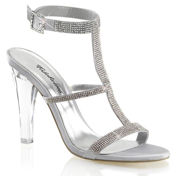 Sandalette CLEARLY-418 - Silber