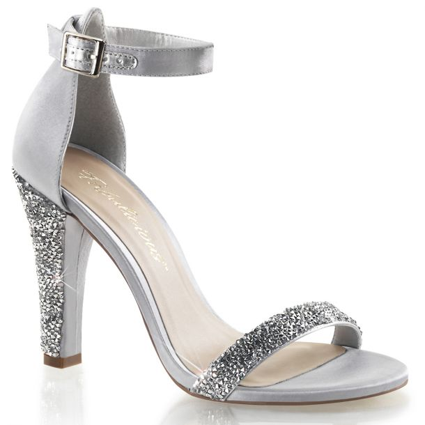 Sandalette CLEARLY-436 - Silber