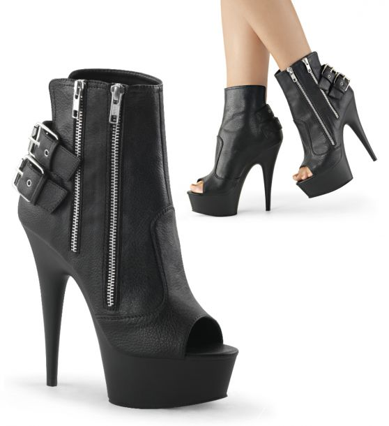 Peep Toe Booties DELIGHT-1015