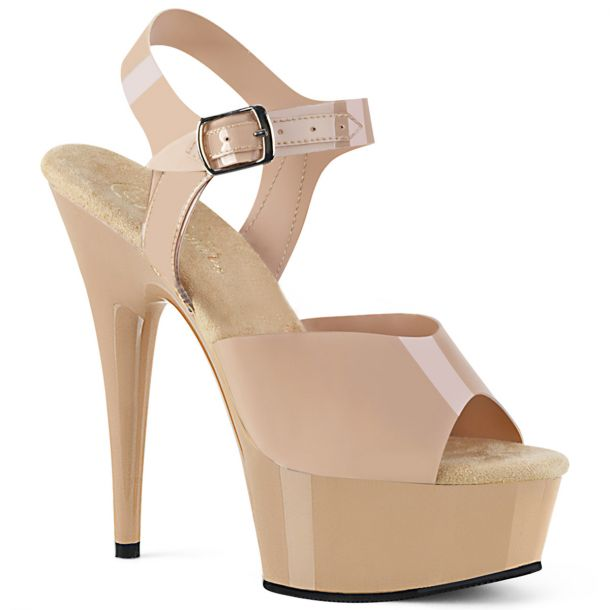 Plateau High Heels DELIGHT-608N - TPU Creme