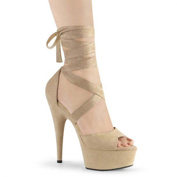Plateau High Heels DELIGHT-679 - Beige*