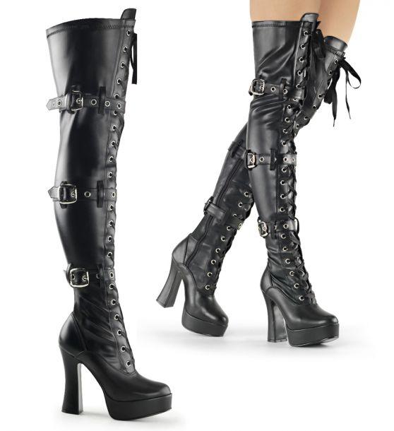Overknee Stiefel ELECTRA-3028 - PU Schwarz*
