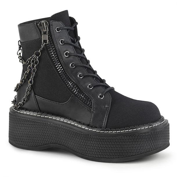 Plateau Ankle Boots EMILY-114 - Schwarz*