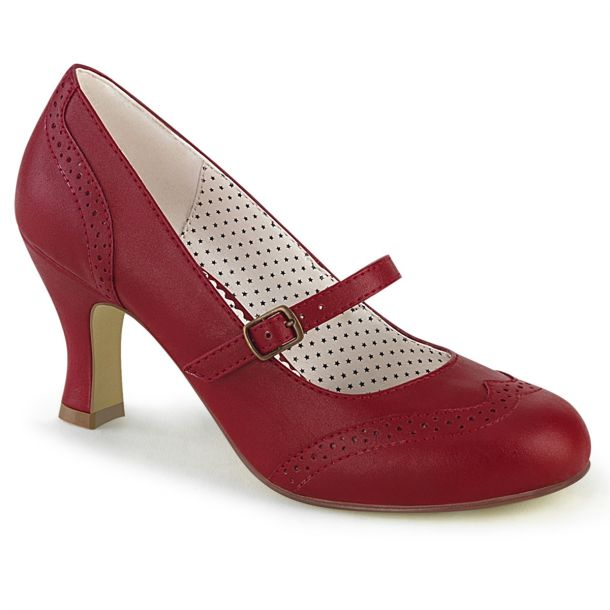 Retro Pumps FLAPPER-32 - Rot*