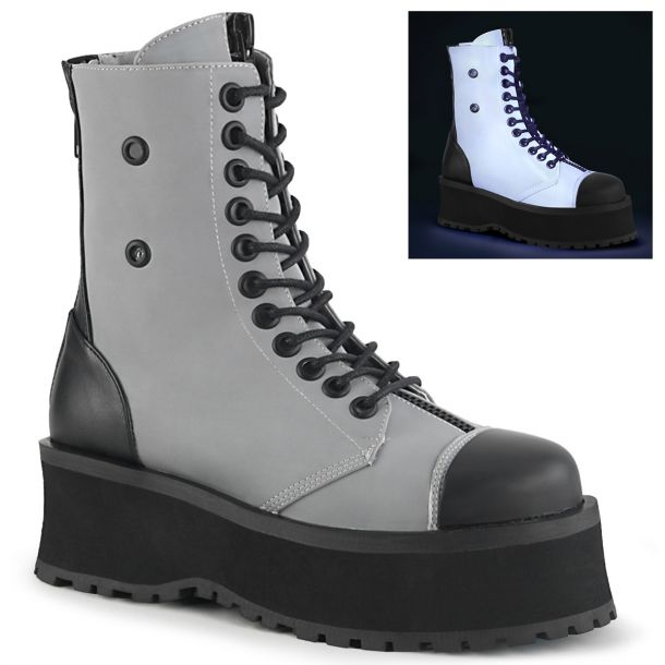 Plateau Ankle Boots GRAVEDIGGER-10 - Grau
