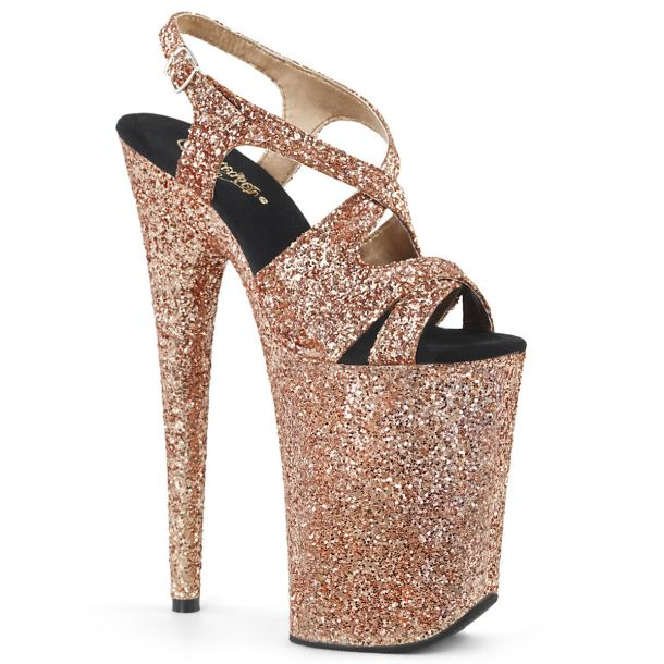 Extrem Plateau Heels INFINITY-930LG - Rose Gold