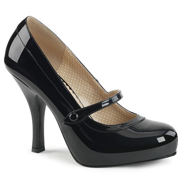 Mary Janes PINUP-01 - Lack Schwarz