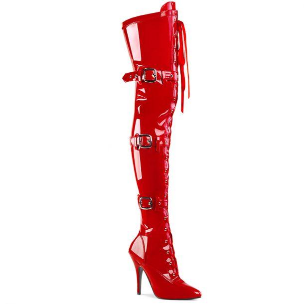 Overknee Stiefel SEDUCE-3028 - Lack Rot