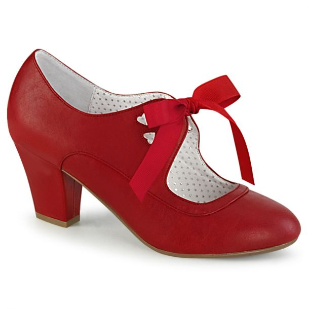 Retro Pumps WIGGLE-32 - PU Rot*