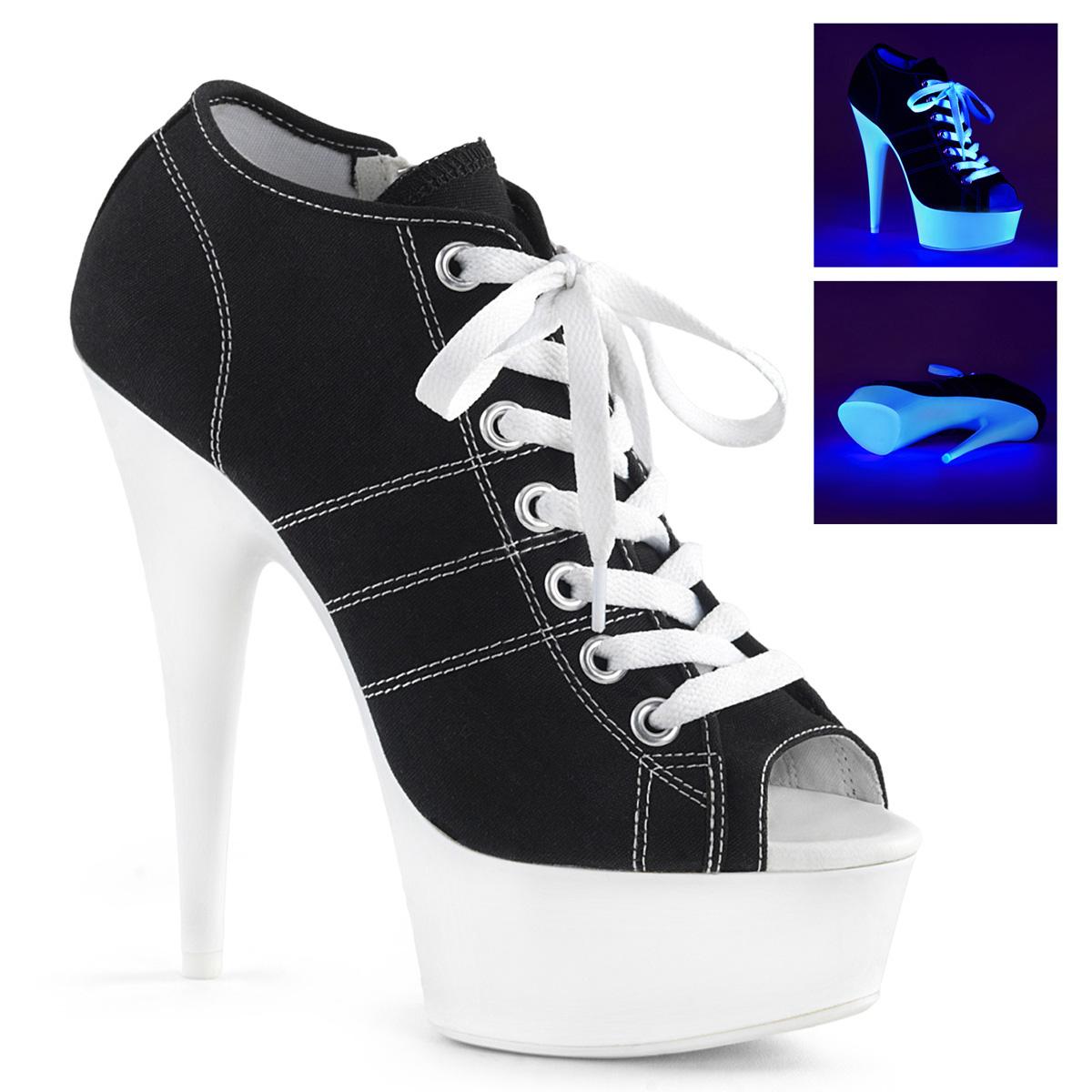 Sneakers Heel Schwarz 01 Canvas 600sk High Delight 8wnmN0