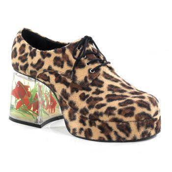 Herren Plateauschuhe PIMP-02 : Leopard*