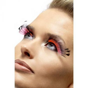 Feder Augenwimpern : Schwarz/Pink*