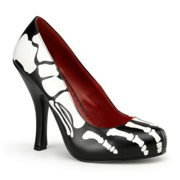 Halloween Skelett Pumps X-RAY-12