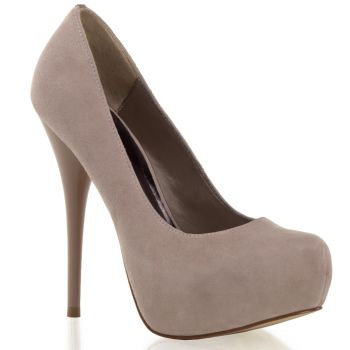 Plateau Pumps GORGEOUS-20 : Velour Blush*