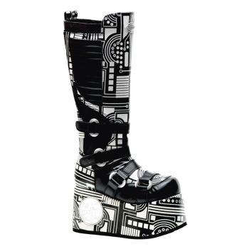 Cyper Boots TECHNO-856UV - Schwarz/Weiß