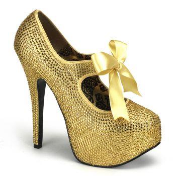 Strass High Heels TEEZE-04R : Gold*