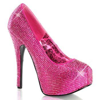 Strass High Heels TEEZE-06R - Hot Pink