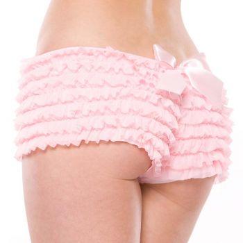 Rüschenhöschen Panty mit Schleife - Rosa