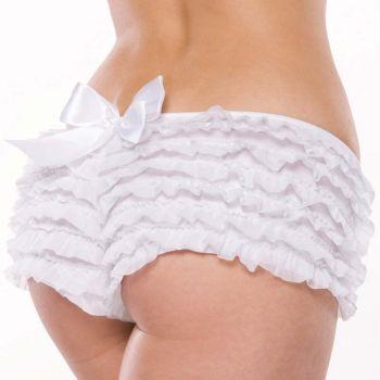 Rüschenhöschen Panty mit Schleife - Weiß